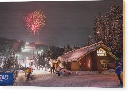 Keystone Resort Fireworks Wood Print