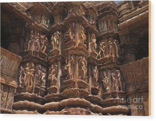 Khajuraho Temples 3 Wood Print
