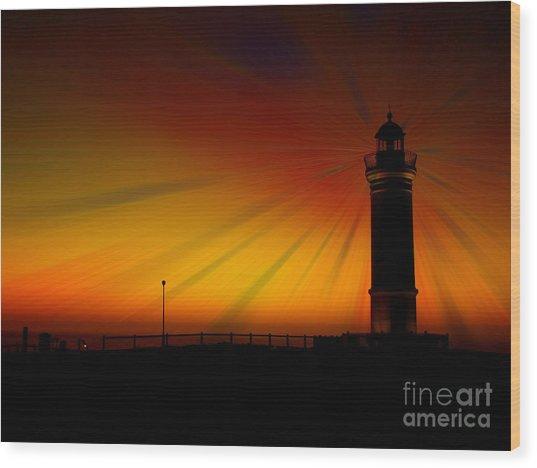 Kiama Lighthouse Wood Print