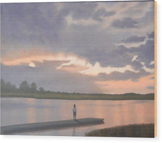 Kiawah Sunset Wood Print