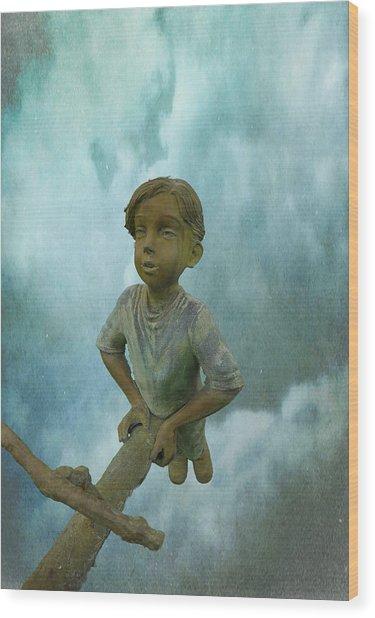 Kid 7 Wood Print by Dale Stillman
