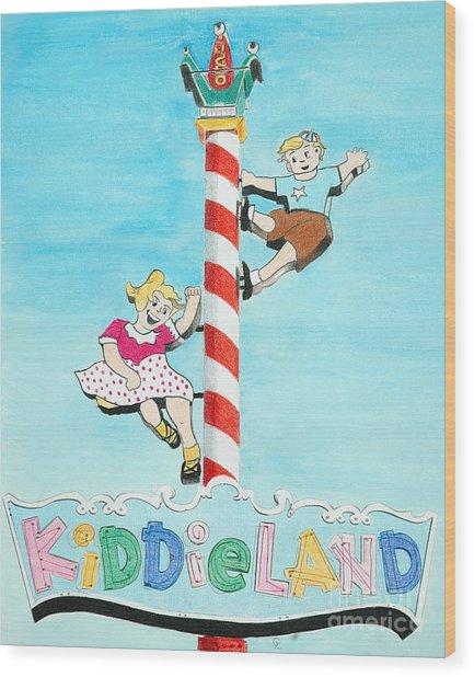 Kiddie Land Wood Print