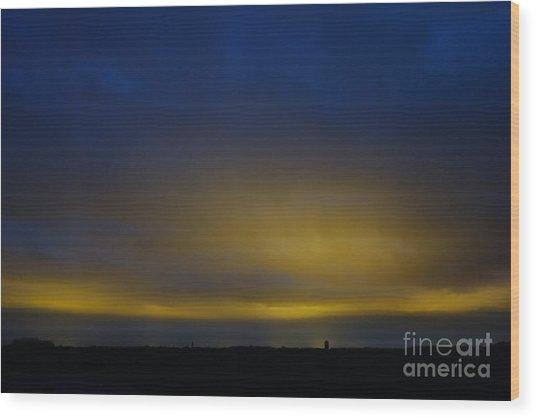 Wood Print featuring the photograph Kijkduin Sunset by Wilko Van de Kamp