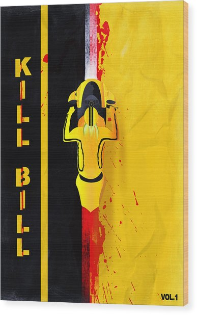 Kill Bill Minimalistic Alternative Movie Poster Wood Print