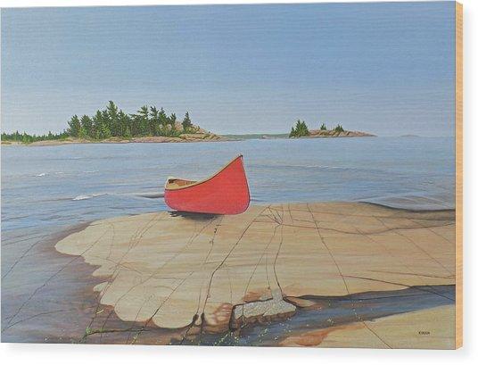 Killarney Canoe Wood Print