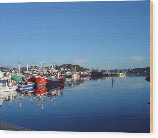 Killeybeggs Harbor Wood Print
