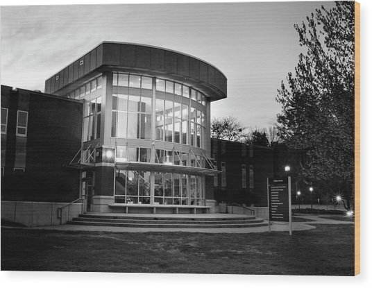 Killian Annex At Night In Black And White Wood Print