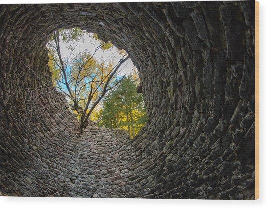 Kiln's Eye Wood Print
