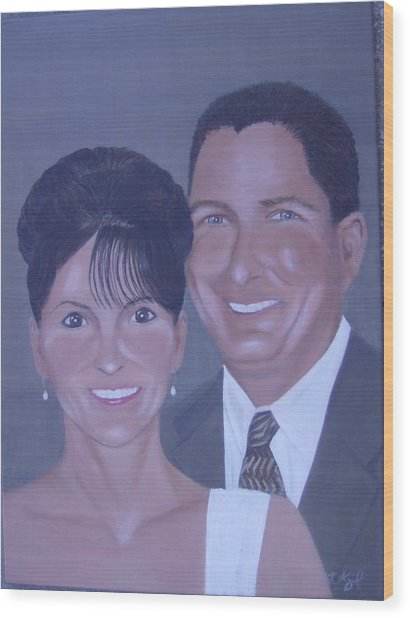 Kim And Kevin Wood Print by KC Knight