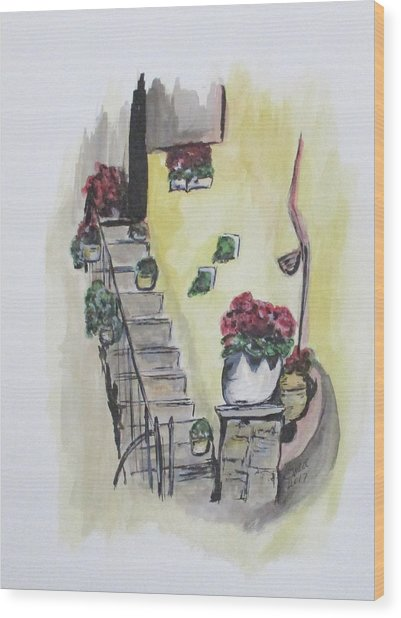 Kimberly's Castellabate Flowers Wood Print