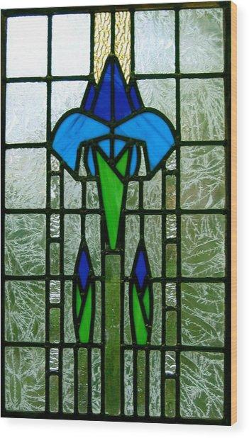 Kims Window Wood Print by Alan Carlson