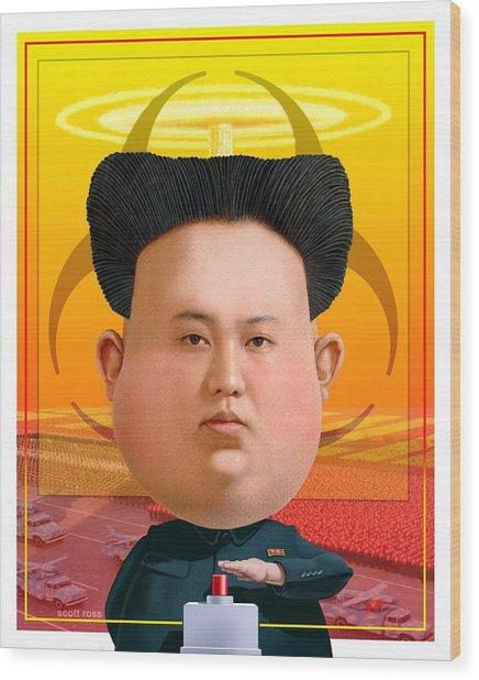 Kim Jong Un 2016 Wood Print