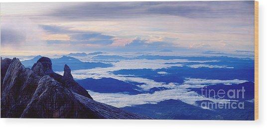 Kinabalu Panorama Wood Print
