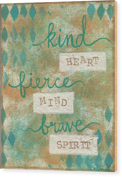 Kind Heart Wood Print