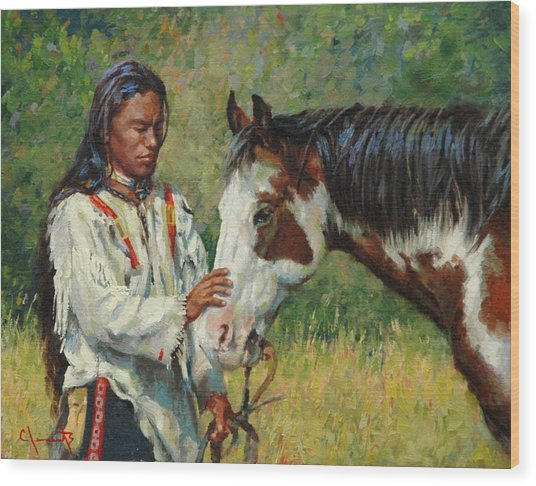 Kindred Spirits Wood Print by Jim Clements