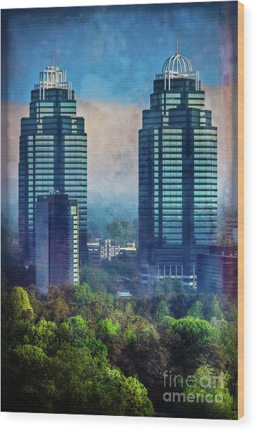 King And Queen Buildings Wood Print