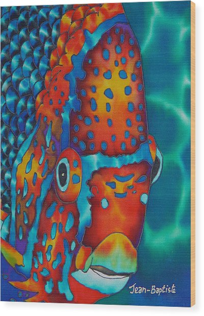 King Angelfish Wood Print