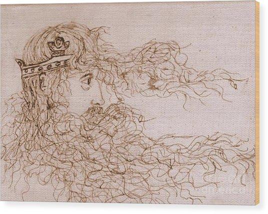 King Arthur Wood Print