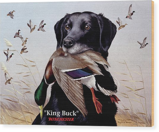 King Buck - 1959-60 Federal Migratory Waterfowl Stamp Artwork Wood Print