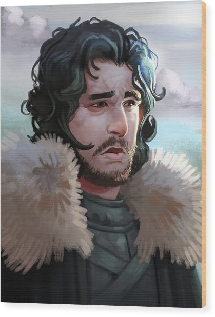 King In The North Wood Print