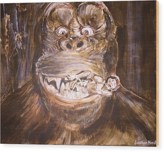 King Kong - Deleted Scene - Kong With Native Wood Print