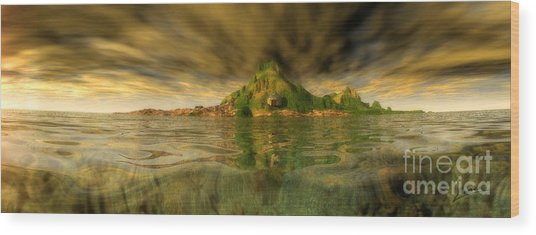 King Kongs Island Wood Print