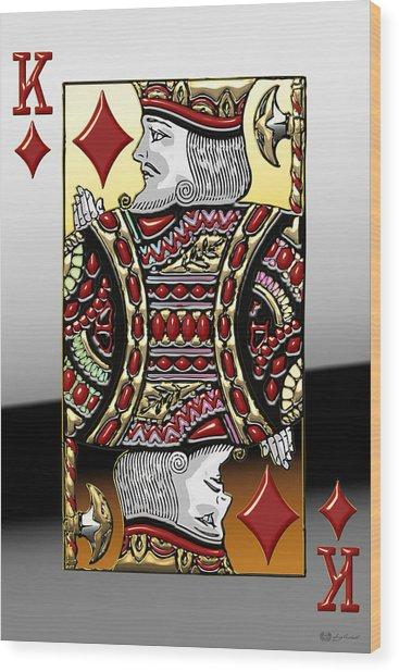 King Of Diamonds   Wood Print