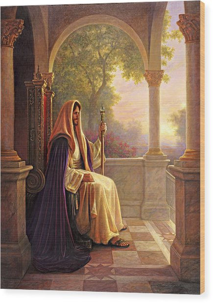 Wood Print featuring the painting King Of Kings by Greg Olsen