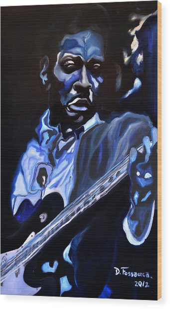 King Of Swing-buddy Guy Wood Print