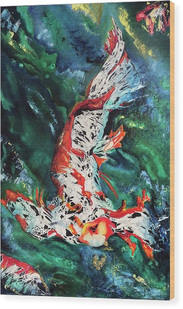 King Of The Pond Wood Print