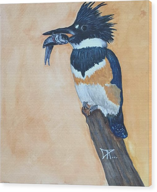 Kingfisher-2 Wood Print
