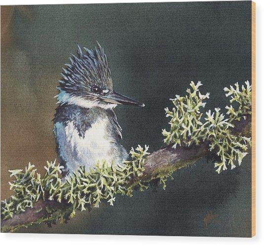 Kingfisher II Wood Print