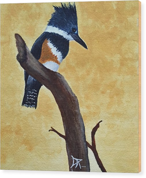 Kingfisher No. 1 Wood Print