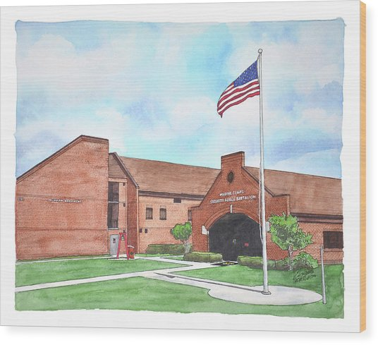 Kings Bay Marine Corps Security Force Battalion Wood Print