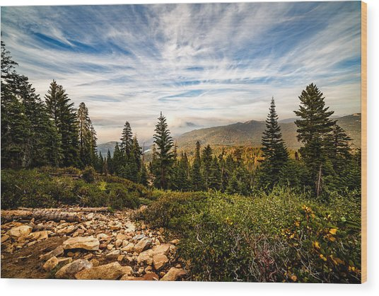 King's Canyon Crown Wood Print