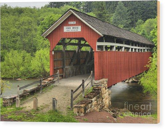 Kings Covered Bridge Somerset Pa Wood Print