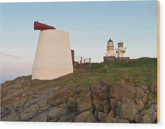 Kinnaird Head Lighthouse Fraserburgh Wood Print