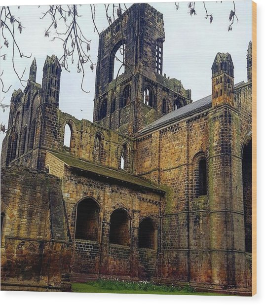 #kirkstallabbey #leeds How's Your Bank Wood Print by Dante Harker
