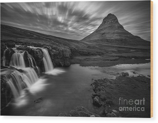 Kirkufellsfoss  Wood Print