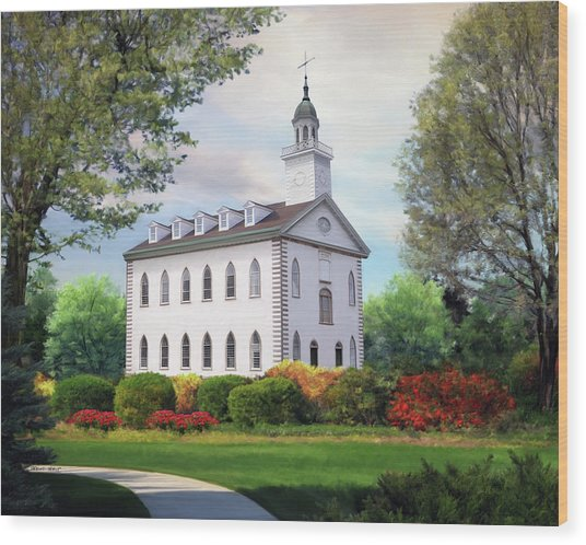 Kirtland Temple Wood Print by Brent Borup