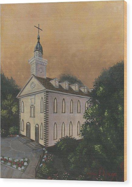 Kirtland Temple Wood Print