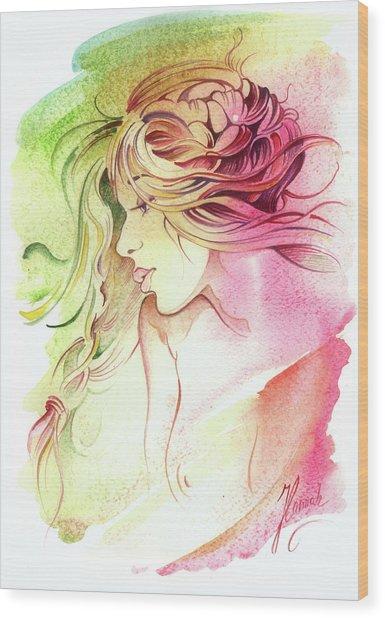 Kiss Of Wind Wood Print