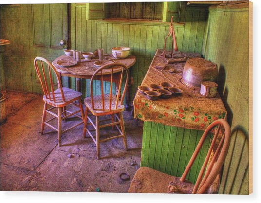 Kitchen Table Bodie California Wood Print