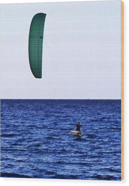 Kite Board Wood Print