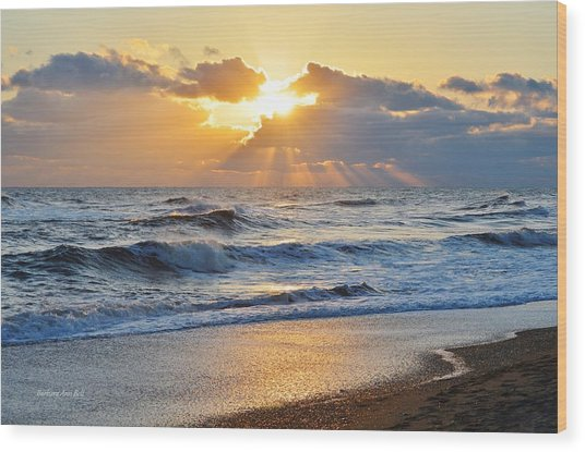 Kitty Hawk Sunrise Wood Print