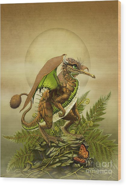 Kiwi Dragon Wood Print