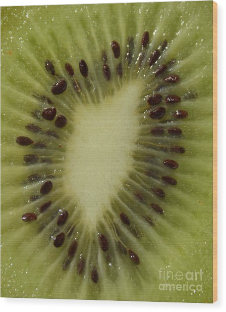 Kiwi Macro Wood Print