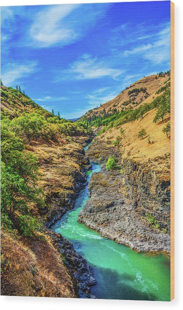 Klickitat River Canyon Wood Print