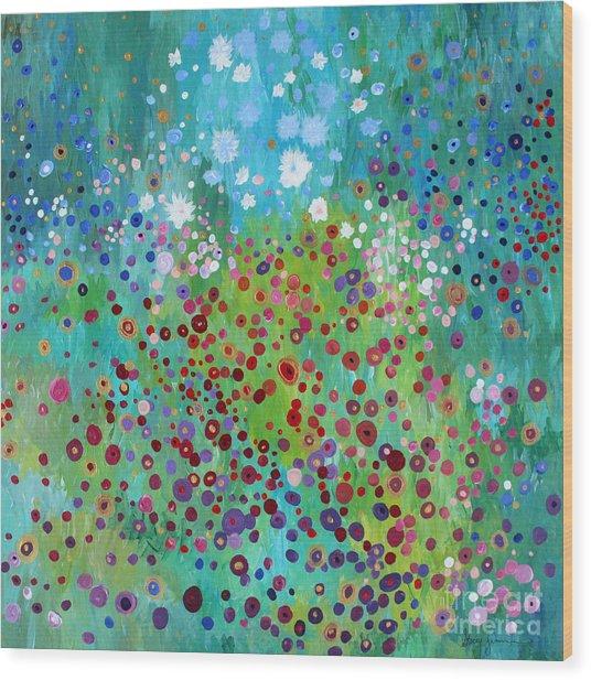 Klimt's Garden Wood Print