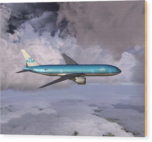 Klm Boeing 777 Wood Print